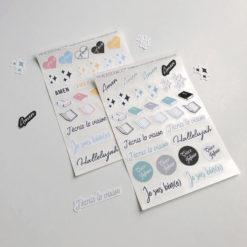 Planches de stickers / Autocollants